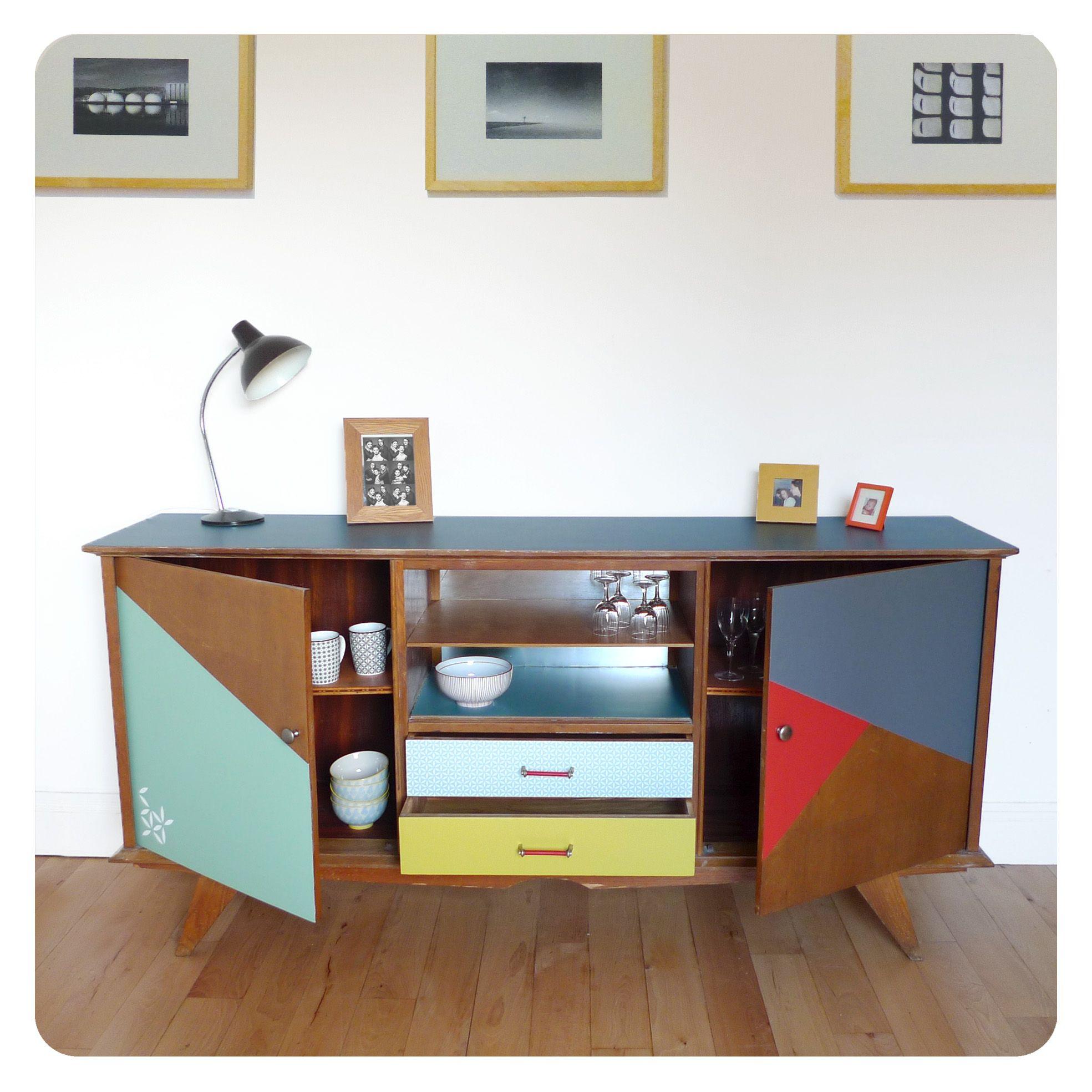 Enfilade vintage - | Retro Furniture | Pinterest | Buffet, Paint ...