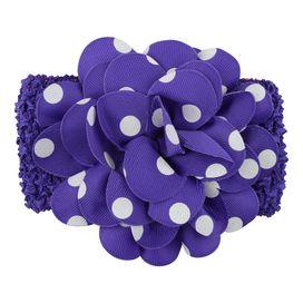 Gorgeous polka dot flower headband in purple. (One size) £1.49