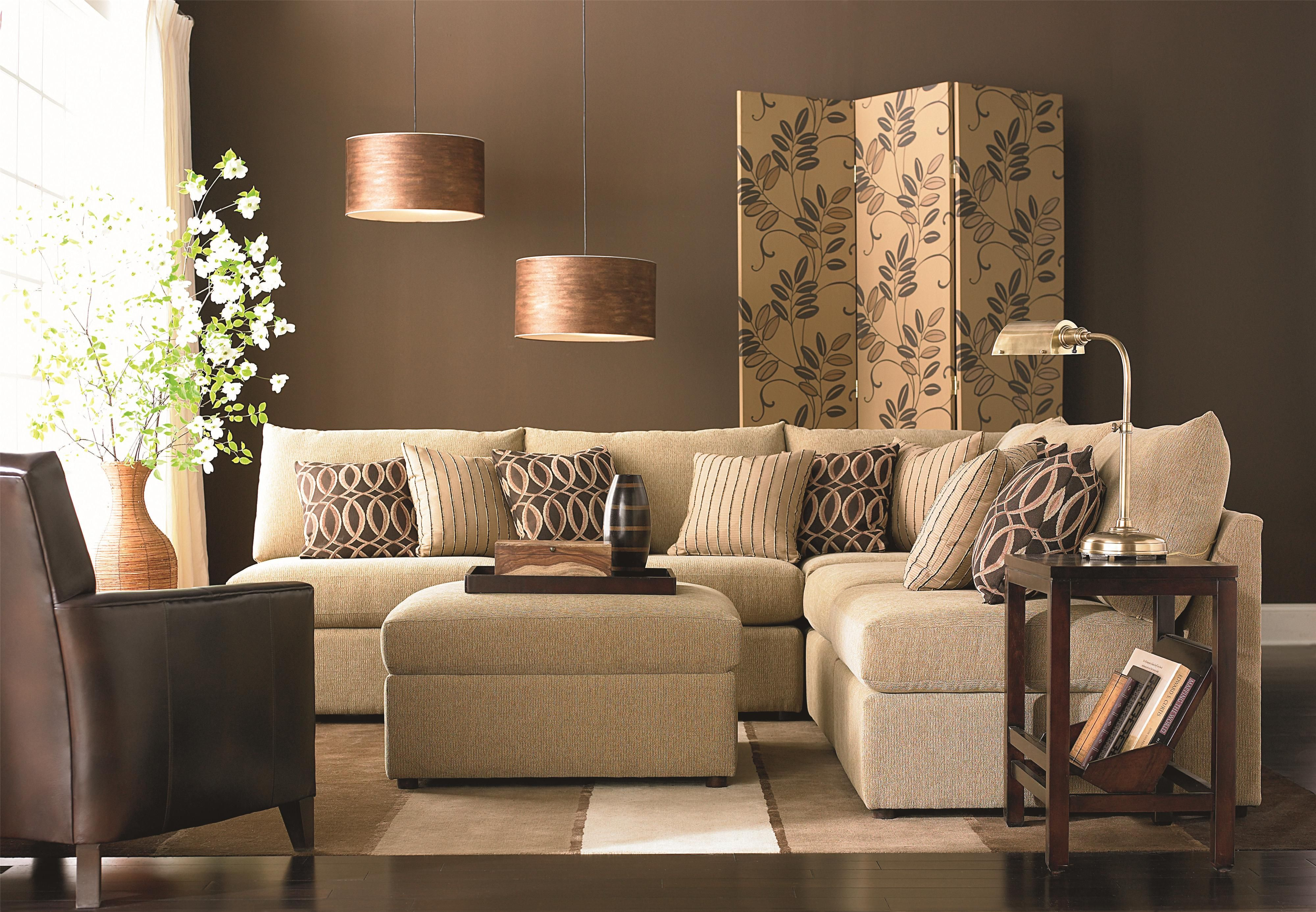 Beckham Transitional U-Shaped Sectional with Loose Pillow ...