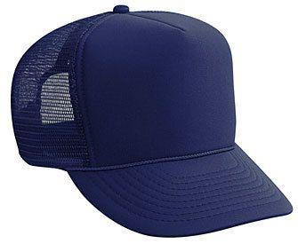 Navy Blue plain blank Trucker Hat Mesh Hat Snapback Hat   Trucker ... 96e14ee9c4