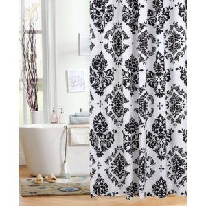 Black And White Damask Bathroom Decor