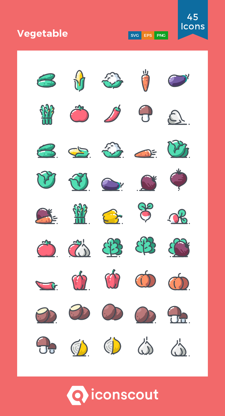 Download Vegetable Icon pack Available in SVG, PNG, EPS