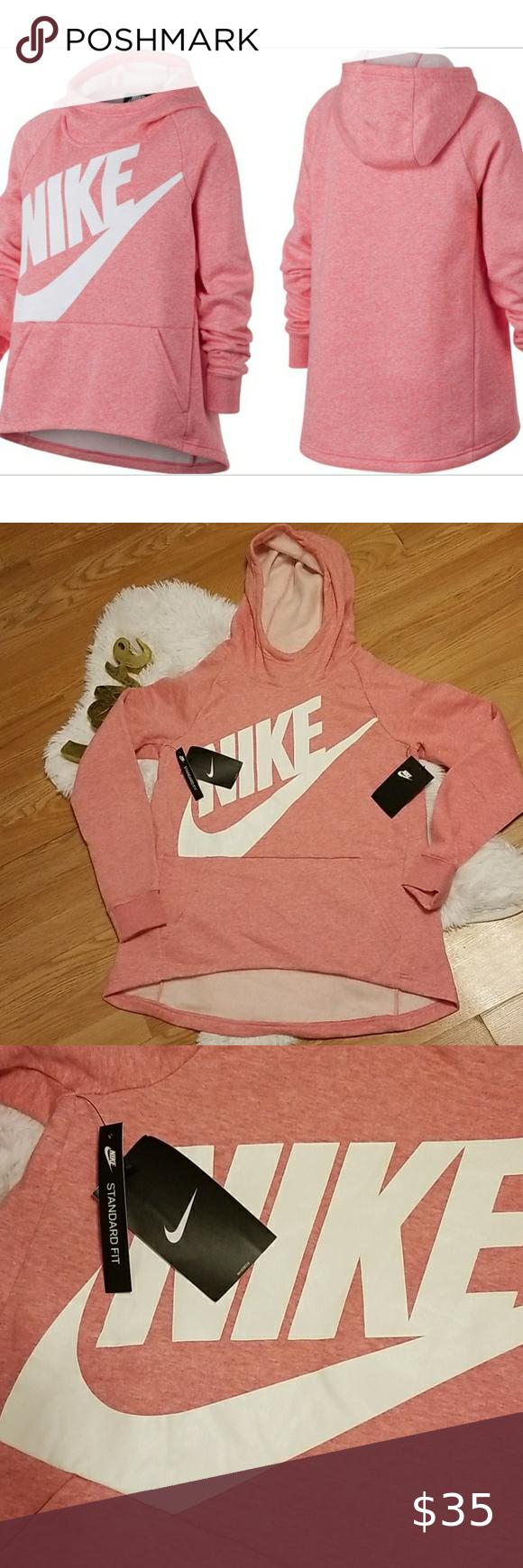 Nwt Nike Girls Sptcas Hoodie Sz Large Nwt Nike Girls Sptcas Hoodie Sz Large Pink Heather With White Log Nikes Girl Nike Tech Fleece Hoodie Black And Red Hoodie [ 1740 x 580 Pixel ]