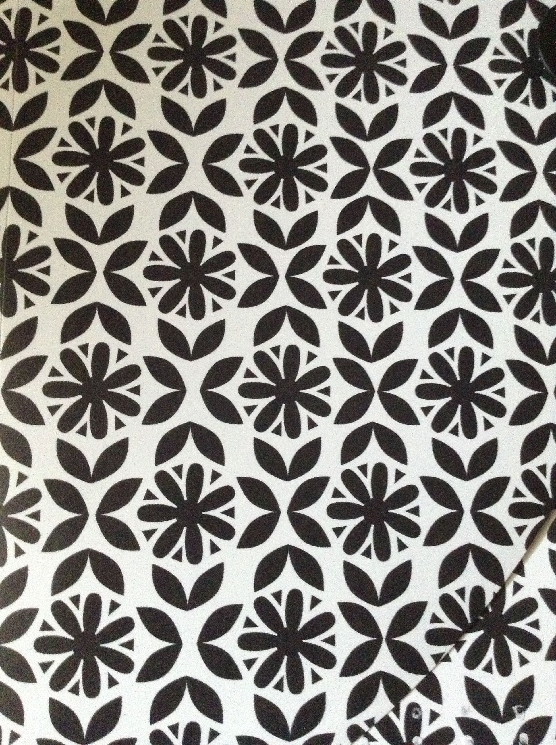 A Pretty Black And White Flower Pattern Arts And Crafts