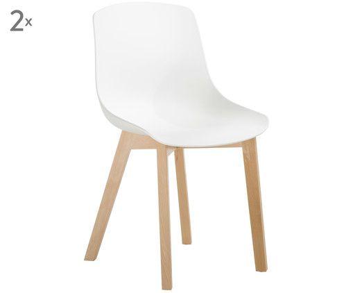 Stuhle Joe 2 Stuck Weiss Fusse Buchenholz Kunststoffstuhle Stuhle Stuhl Kunststoff