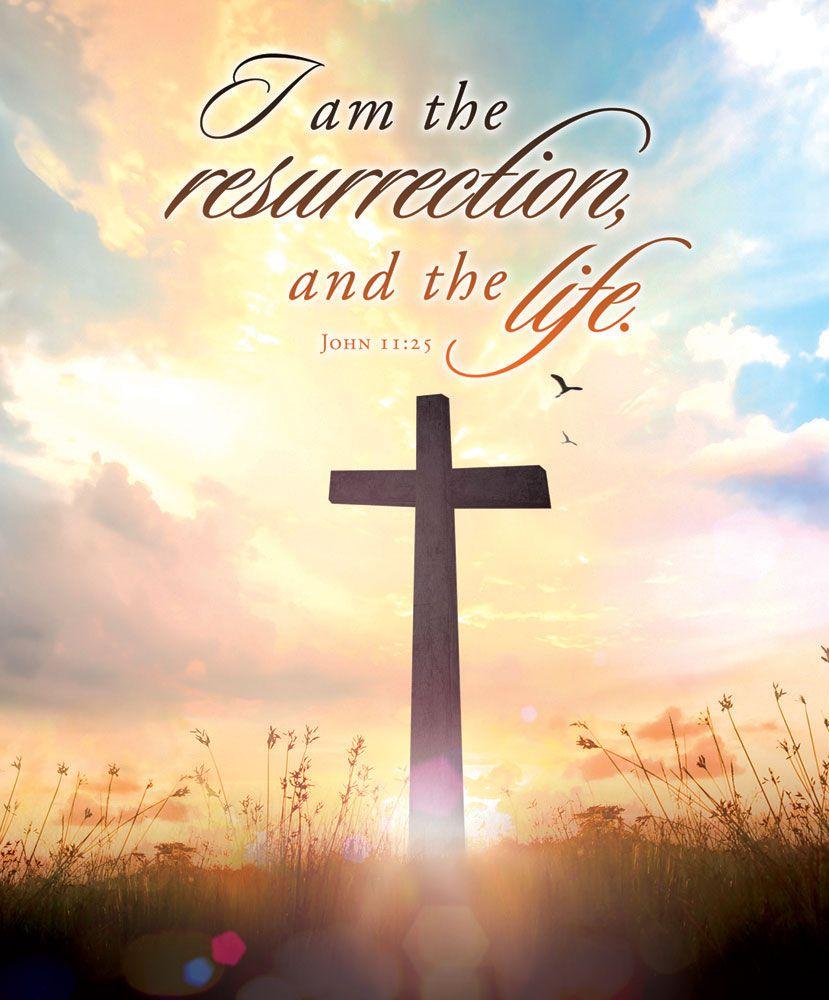 "Church Bulletin 14"" Easter I Am The Resurrection (Pack"