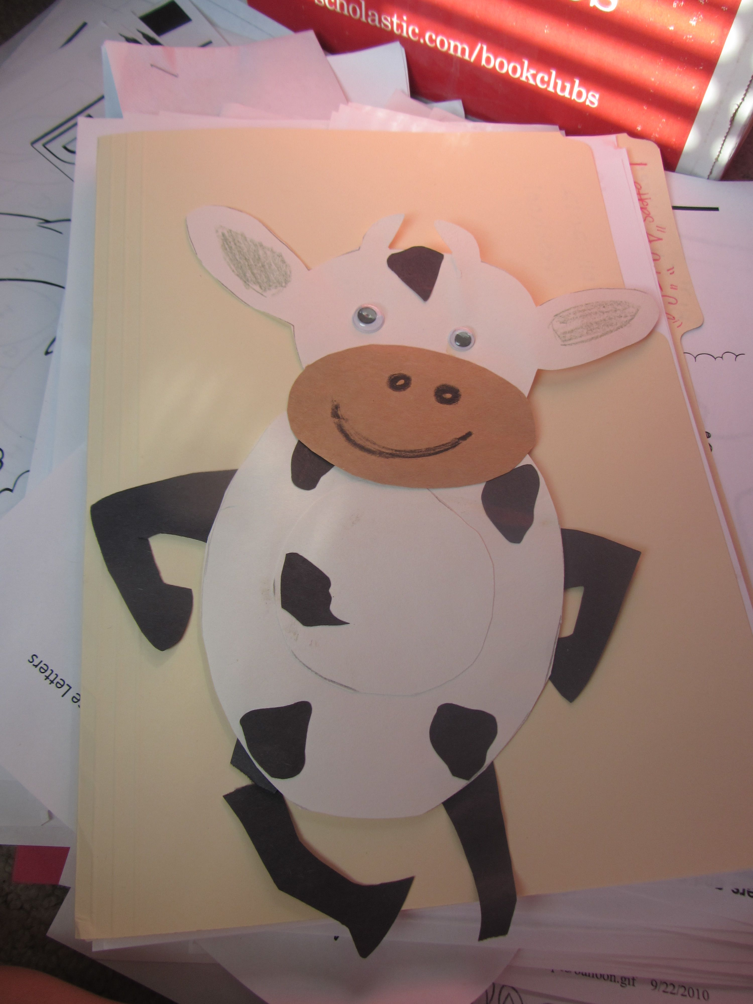 Cow Craft For Cow Appreciation Day
