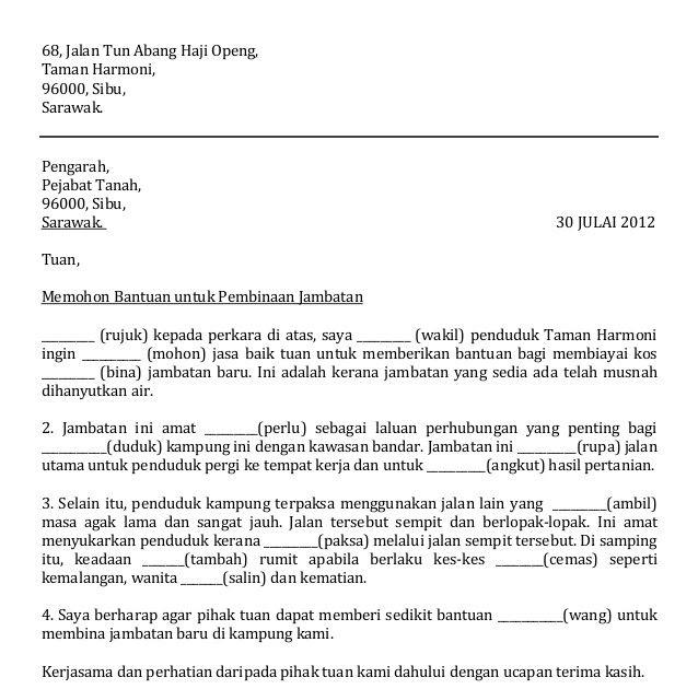 Surat Rasmi Rayuan Bantuan Kewangan Perniagaan Surat Rasmi Rayuan Bantuan Kewangan Baitulmal Surat Rasmi Rayuan Bantuan Kewangan Pelajar Surat Rasmi Rayuan Surat