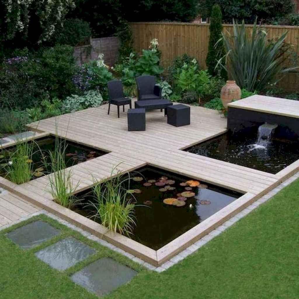 Modern garden ideas with pond