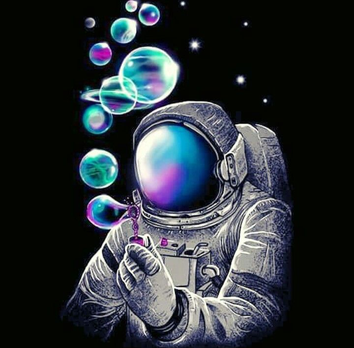 Space Man Astronaut Art Psychedelic Art Art