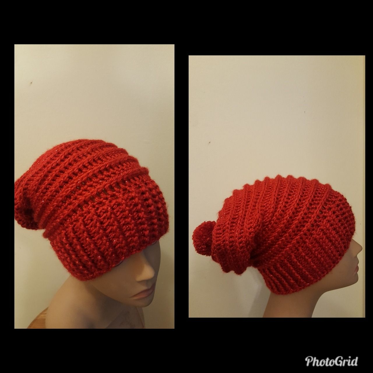 a5bac4b3d51 Crocheted Red Sparkle Riptide Slouch Hat!(For Sale) 13- jbwii.tumblr ...