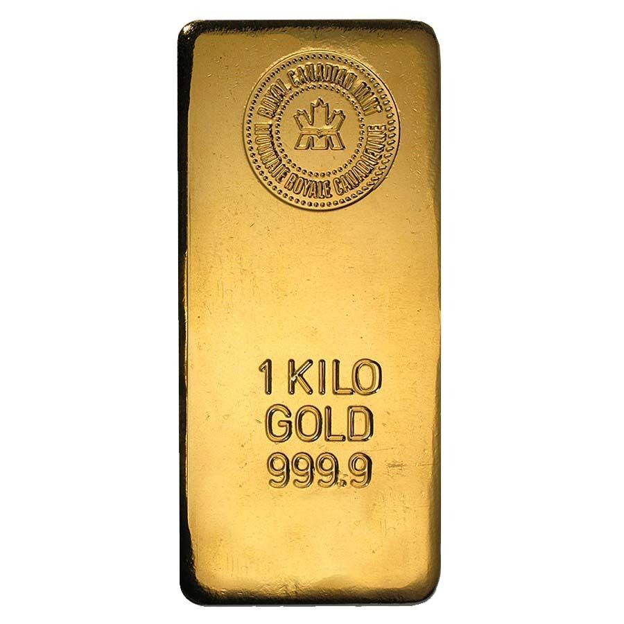 1 Kilo Royal Canadian Mint Rcm Gold Bar 9999 Fine Gold Bullion Bars Gold Bar Gold Coin Price
