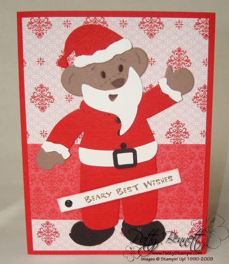 Santa bear card 1