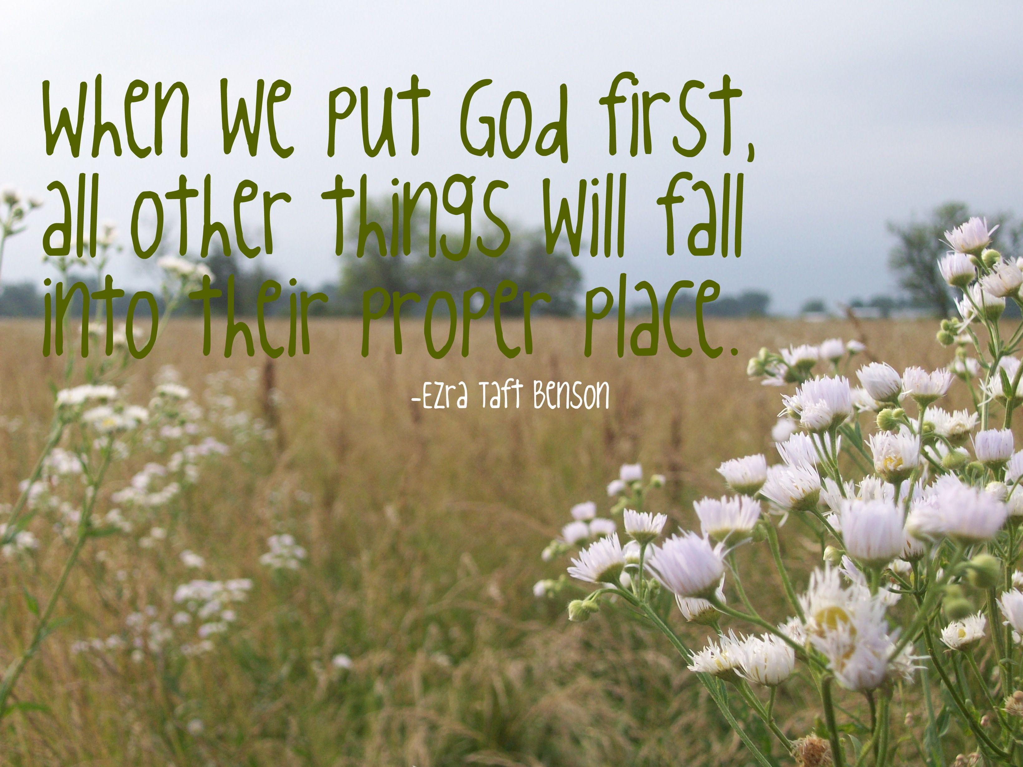 When We Put God First, All Other Things Will Fall Into