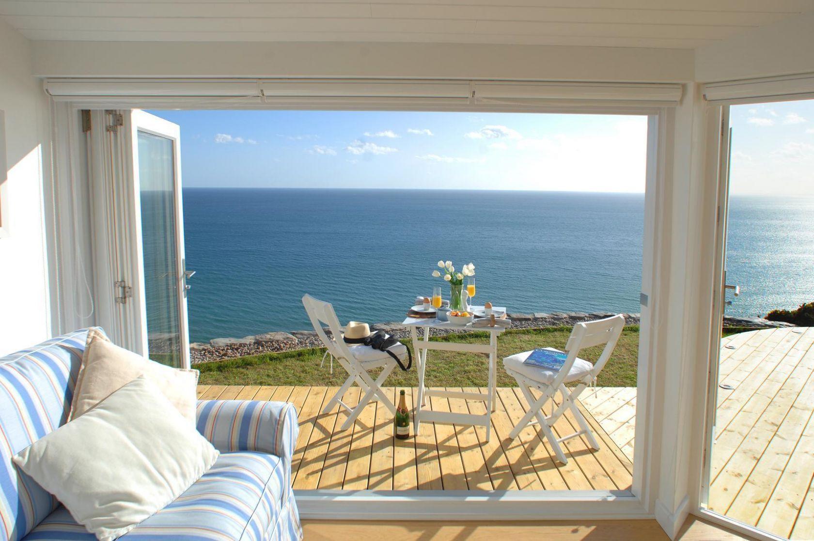 beach house   living room   terrace   open to ocean