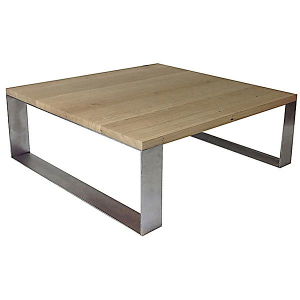 Table Basse Chene Metal 100 La Beaute Au Naturel Table Basse Table Basse Design Table Basse Chene