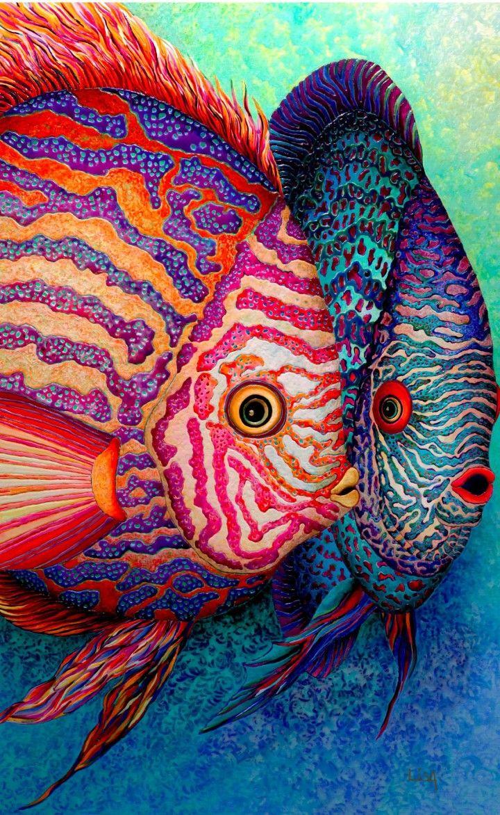Felix murillo lleno de colores painting acrylic artwork fish art - Lisa_benoudiz_france_3 Fish Paintingsmajestic Animalsfish Arttropical