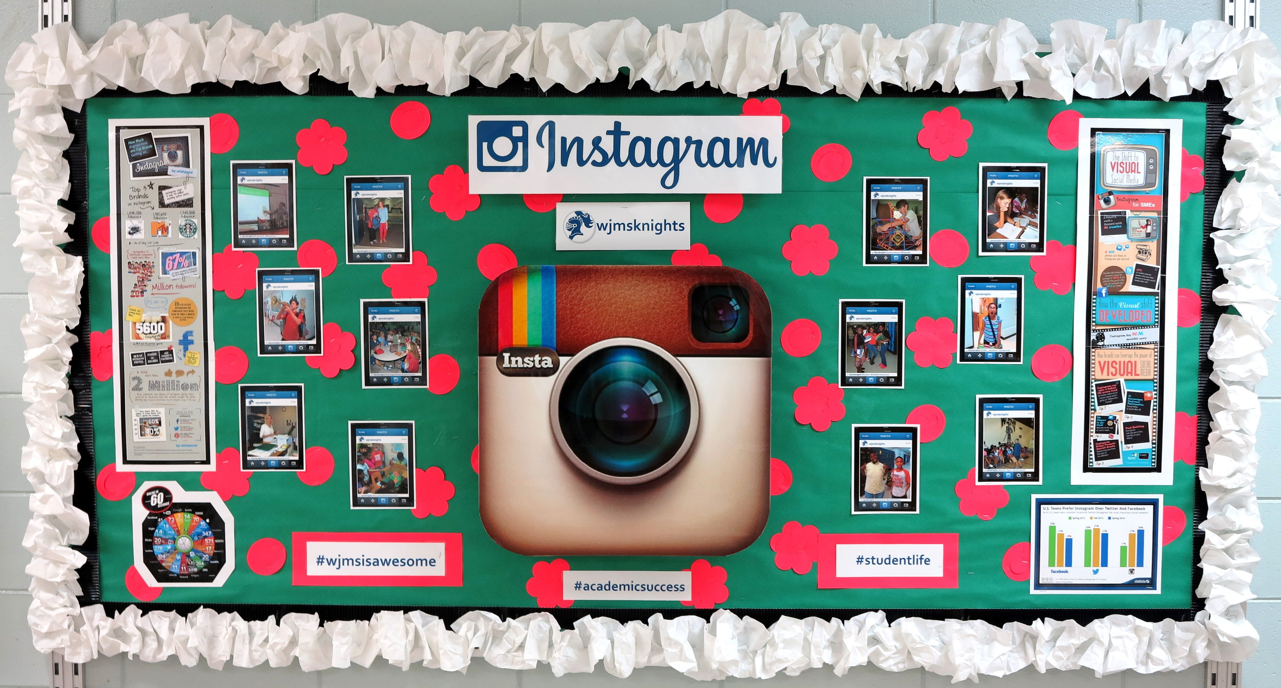 Student Life On Display With Instagram Board