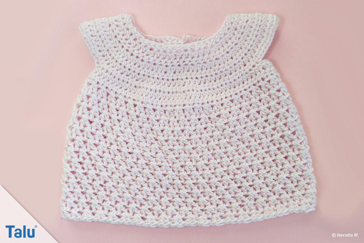 Babykleid Häkeln Anleitung Für Ein Babykleidchen Puppenkleidung