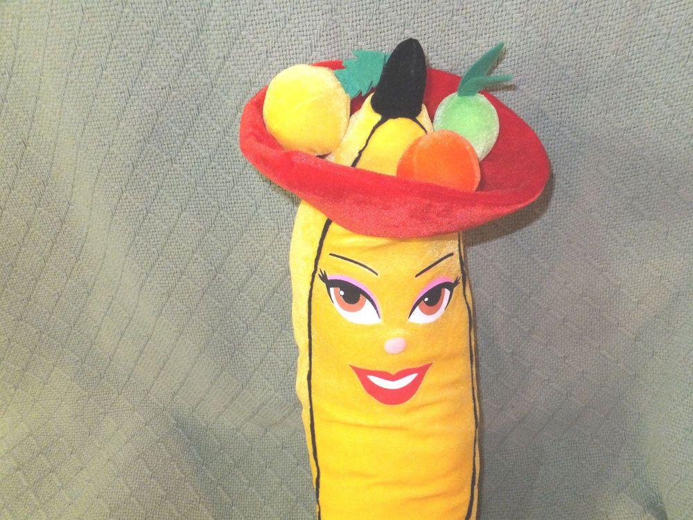 "21"" BANANA Carmen Miranda Style FRUIT Bowl Hat Lady Lips ..."