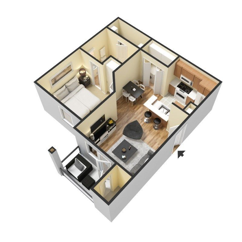 Pin By Silvermisty On 3d Floor Plan Ideas Home Building Design Small House Living Contemporary House Plans