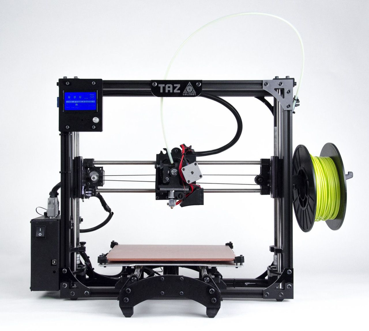 LulzBot TAZ 5 3D Printer | High Performance Desktop Printer - one of the best and most flexible 3d printers available, just arrived at PrinterPlayground.com. Shop Now!