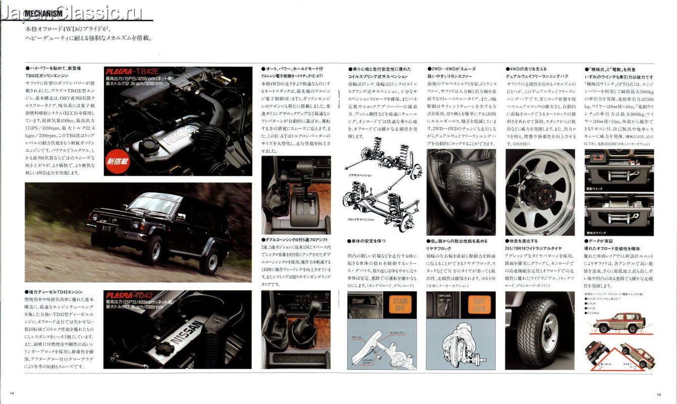 Nissan Safari Patrol Y60 Brochure Nissan Nissan Patrol Brochure
