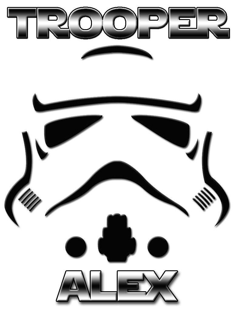 Personalized custom name t shirt star wars storm trooper