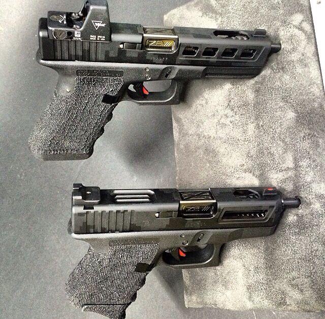 Glock 17 and Glock 26, custom for Dan Bilzerian.