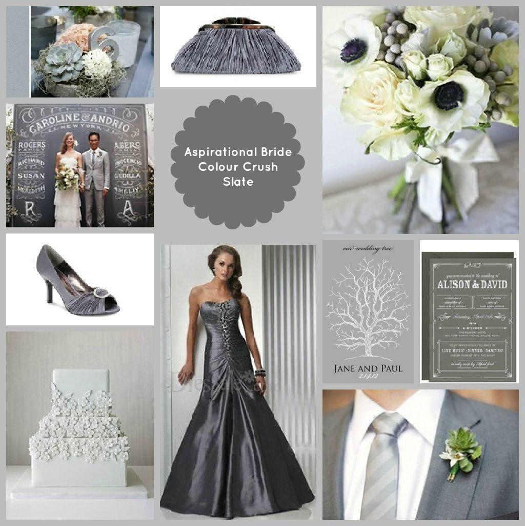 Slate Grey Wedding Theme Wedding Decor Pinterest Gray