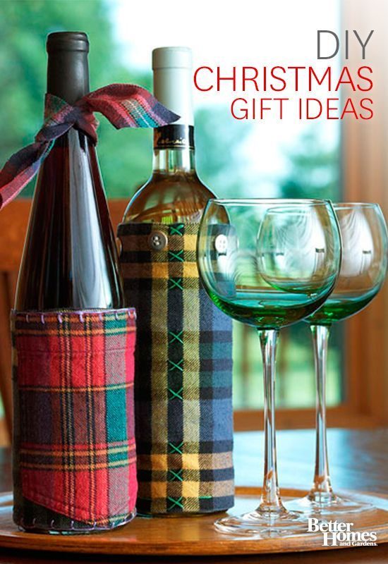How To Decorate A Wine Bottle For A Gift Adorable Christmas Sweater Crafts Redefining The Ugly Sweater
