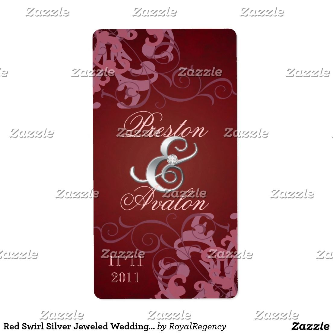 Create Your Own Return Address Label Zazzle Com Wedding Wine Labels Purple Wine Label Wine Wedding