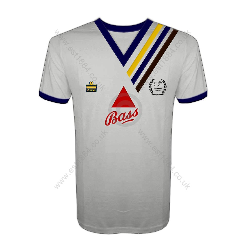 Derby County Centenary Kit 1984 85 Derby County Mens Tshirts Mens Tops