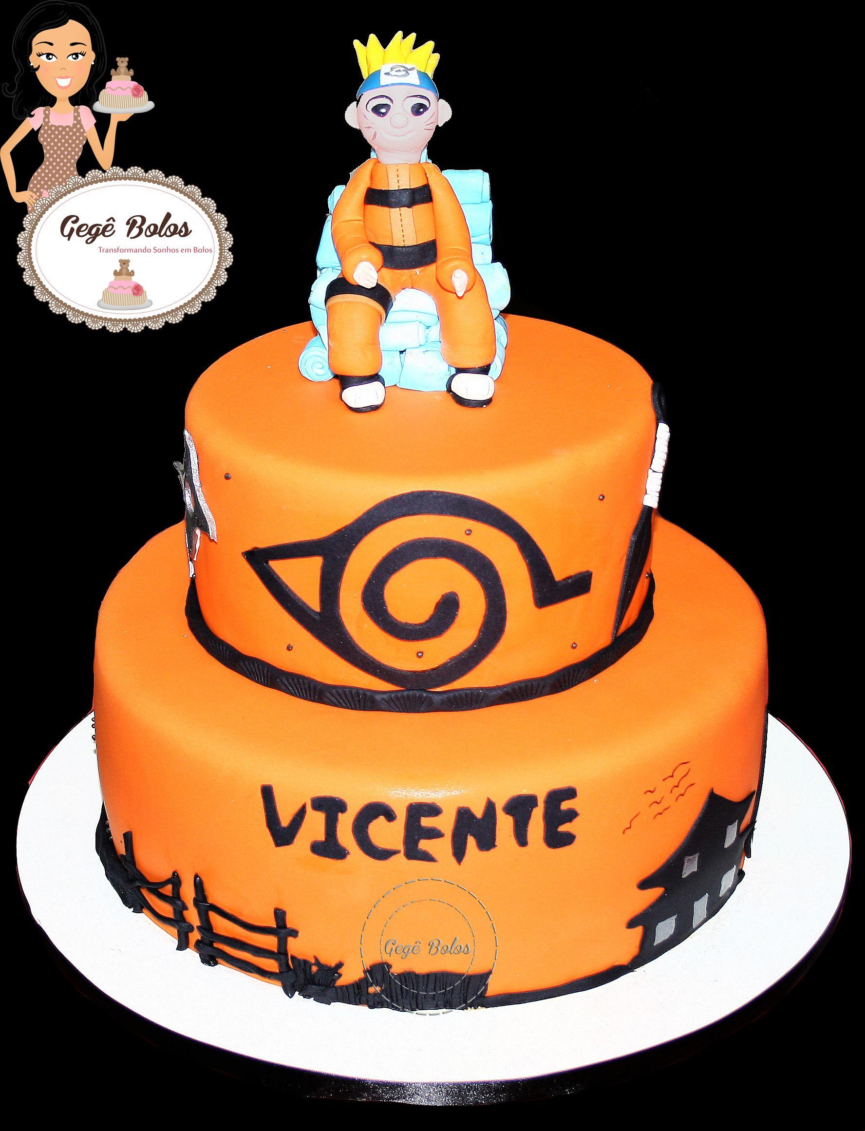 Bolo naruto cake cake designs desserts