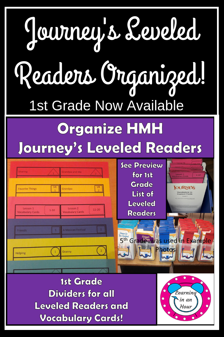 Journey's Lessons 1st Grade: Organization Dividers for Leveled
