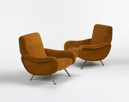 Wright-Lady chairs, pair