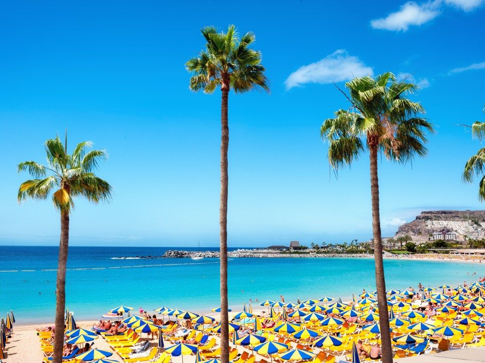 Beautiful Beach Of Playa De Amadores Near Puerto Rico Town Gran
