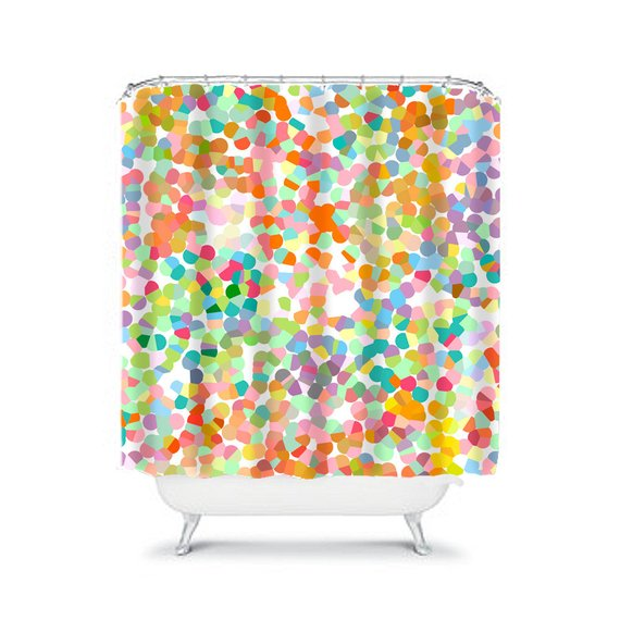Colorful shower curtain bathroom decor unique shower