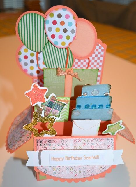 birthday box card love these box cards that mary designs