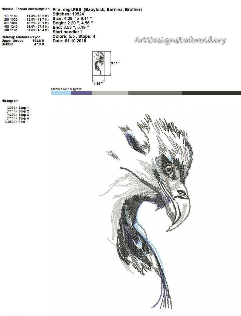 adler motiv adler adler vogel maschinenstickerei design