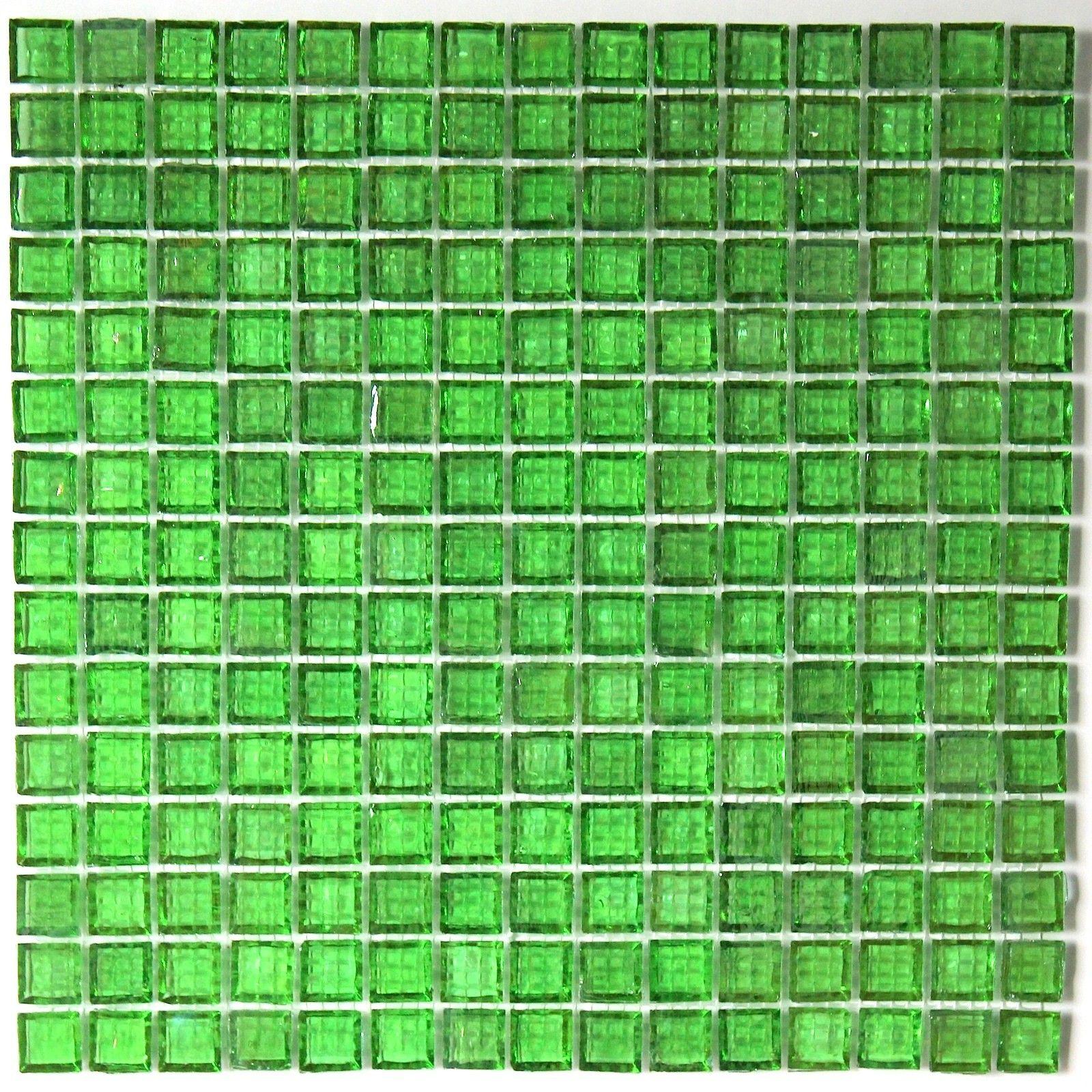 crédence verre, mosaïque verre douche crystal-vert https://carrelage