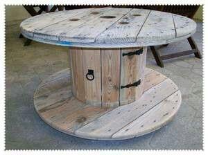 recycler un touret en table jardin. Black Bedroom Furniture Sets. Home Design Ideas