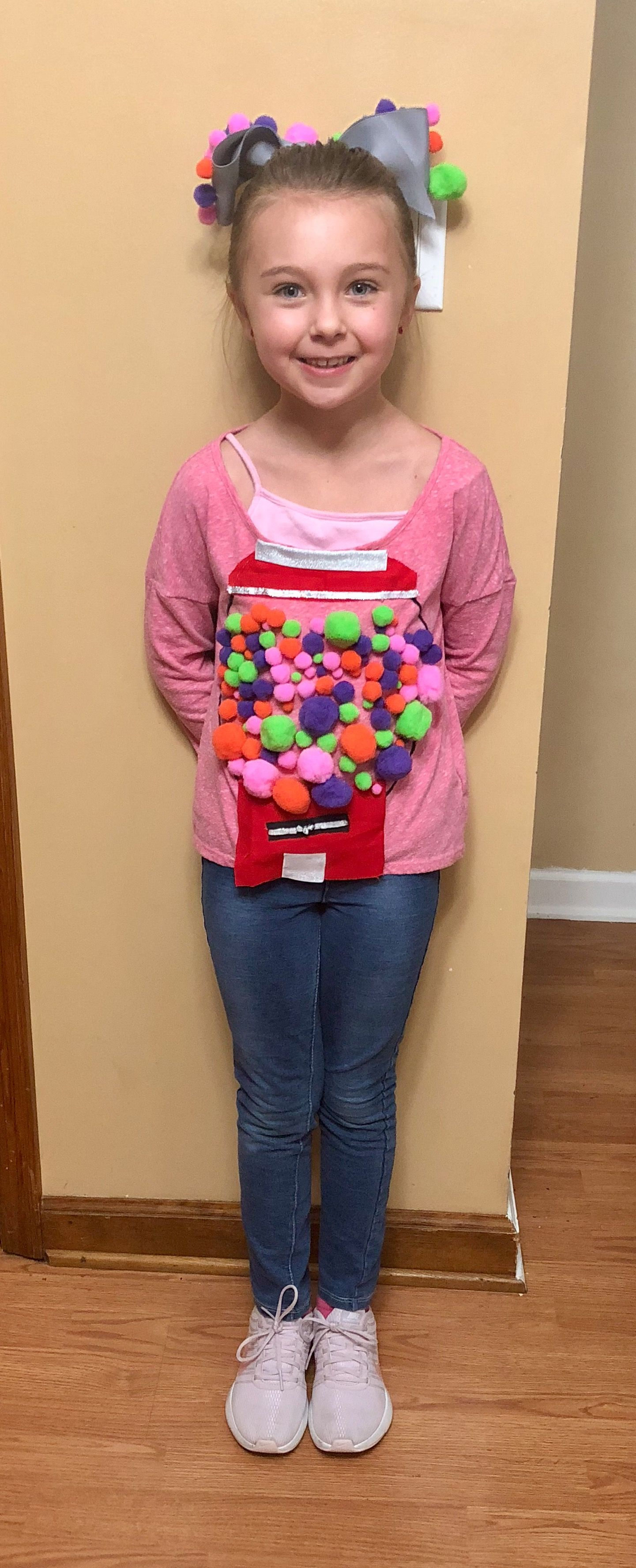 100 Days Of School Gum Ball Machine