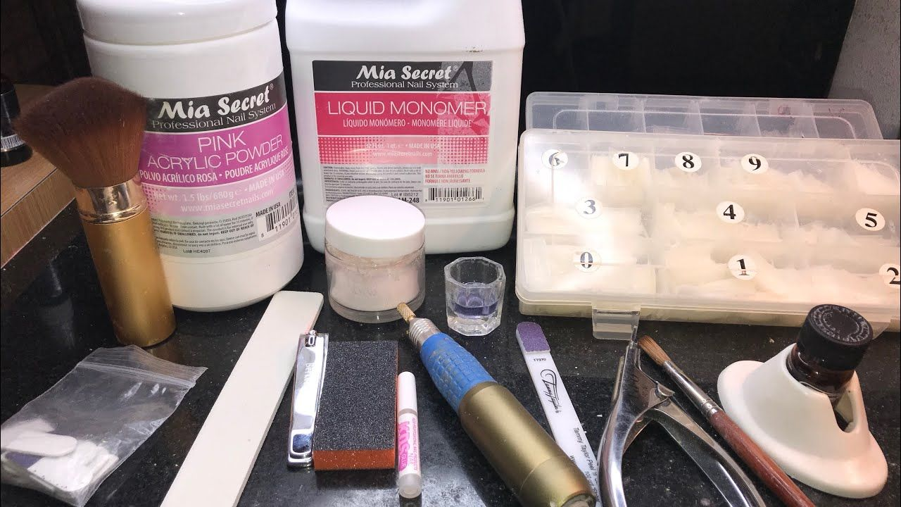 Acrylic Nails For Beginners Supplies Needed To Do Nails Youtube Acrylic Nail Supplies Acrylic Nail Kit Diy Acrylic Nails