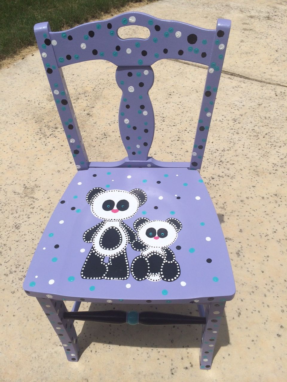 Panda Polka designed by Cyndy and Caralyn Sutton (2015 Chair-ity Event)