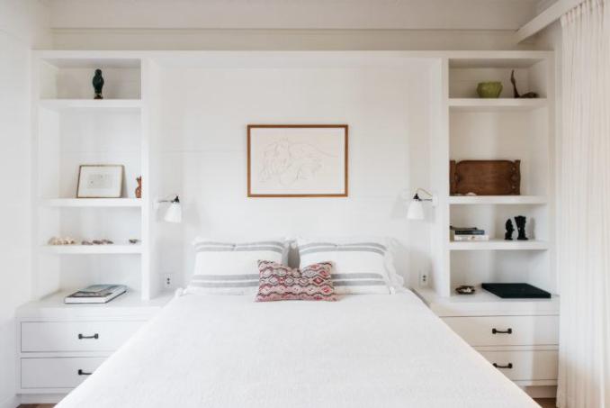 Built In Nightstands And Shelves Around Bed Bedroom Built Ins