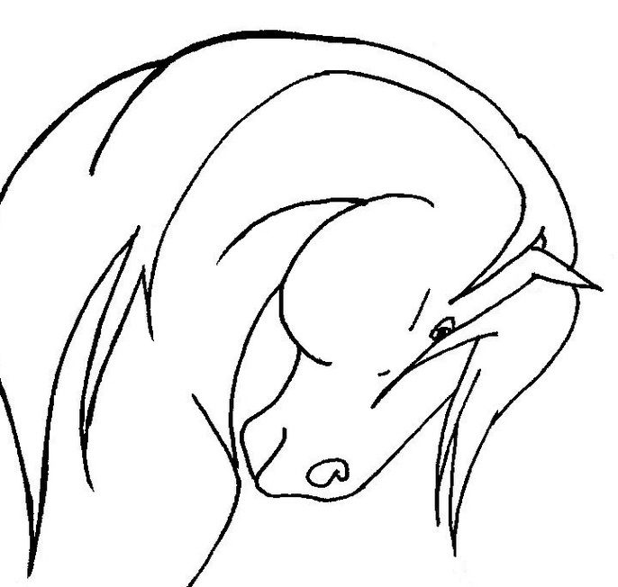 Horse Line Drawing Clipart Free To Use Clip Art Resource