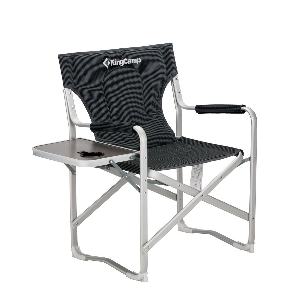 Kingcamp Director Chair Folding Aluminum Padding Portable Heavy Duty Comfort Sturdy Reclining With Ar Outdoor Folding Chairs Best Folding Chairs Camping Chairs