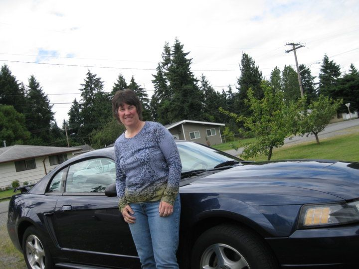 This was my 2003 Mustang that I bought in 2006. I dearly loved this car and had intended on keeping it until it fell apart. See next photo...