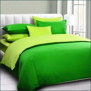 White Lime Green Swirls Bedding Set Green Bedding Bedroom Green